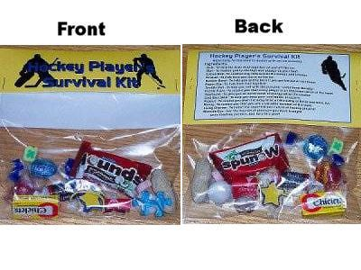 Hockey Player Survival Kit - this could be fun for a beginning of season 'gift' for players.