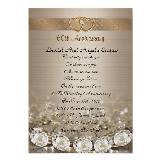 17 best images about 60th wedding anniversary on pinterest for Free printable 60th wedding anniversary invitations