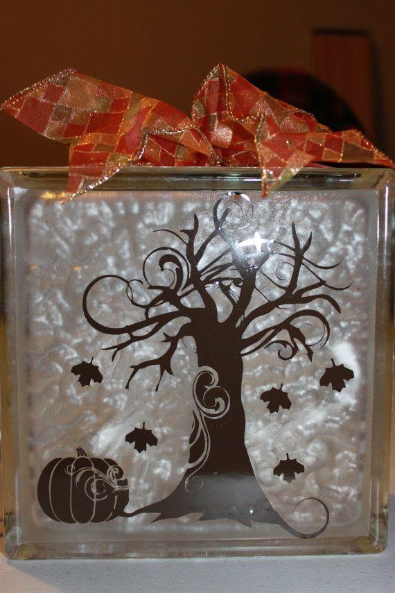 Best ScanNCut Vinyl Glass Blocks Images On Pinterest - Halloween vinyl decals for glass blocks