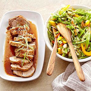 Teriyaki Pork with Asian Slaw From Better Homes and Gardens, ideas and improvement projects for your home and garden plus recipes and entertaining ideas.