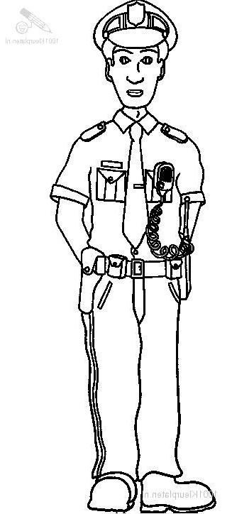 Police Officer Coloring Page Cartoons Pinterest Police Police