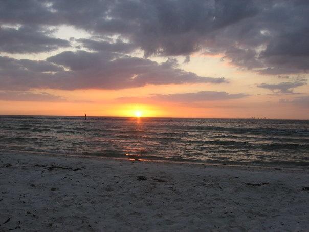 Sunset At Clearwater Beach Fl Florida Gulf Coast