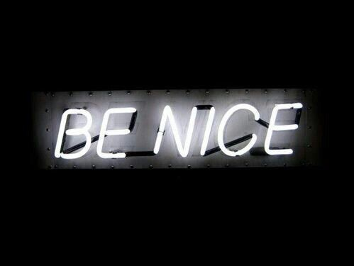 Imagen de neon, be nice, and black