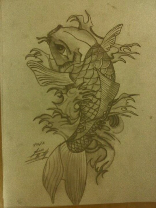 13 best tattoo ideas for dave images on pinterest crests for Koi fish family