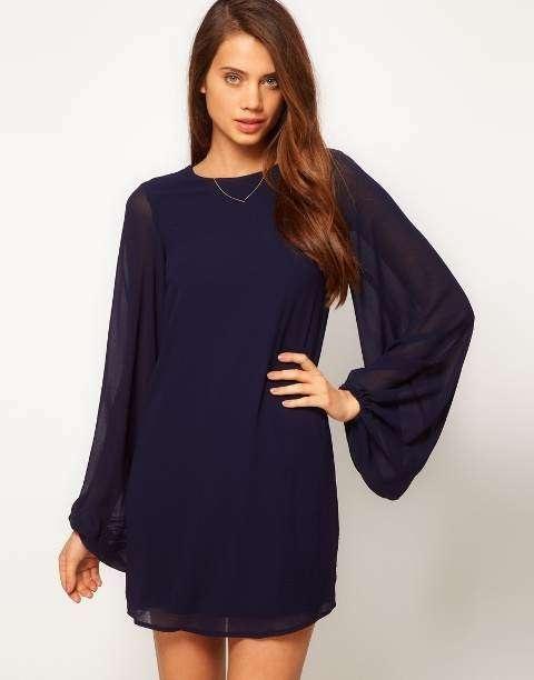 Sencillos vestidos cortos de moda casual elegante 2013…