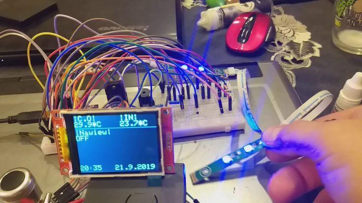 VISUINO Ili9341/ kontrola temp. /Sterowanie PWM Arduino