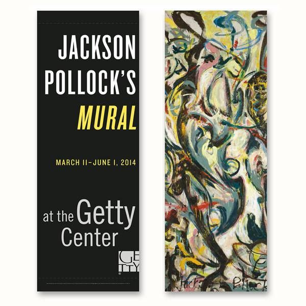 Getty Exhibition Banner - Jackson Pollock's Mural – The Getty Store