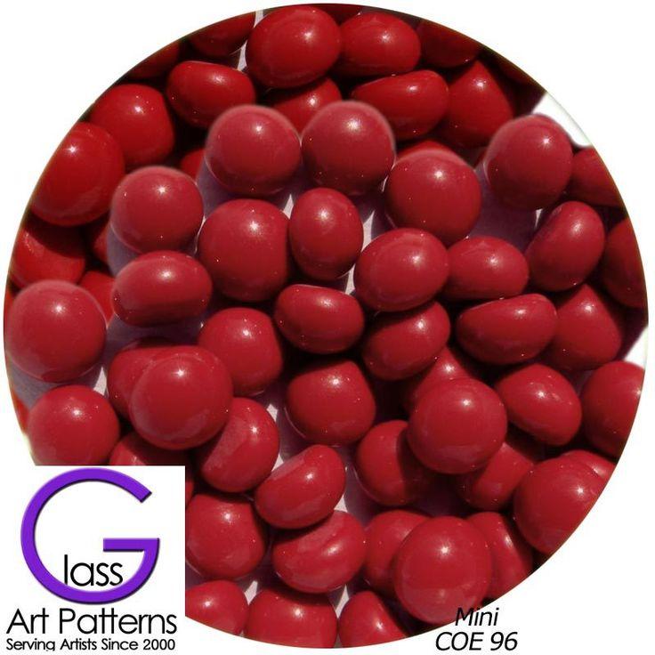 COE96 Glass Pebble Polka Dot - Lipstick Red Opal