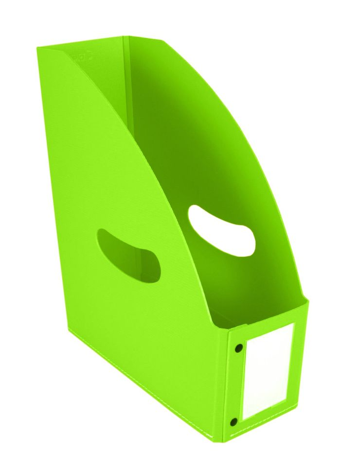 Green Poly Folding Magazine Holder, Holds 10