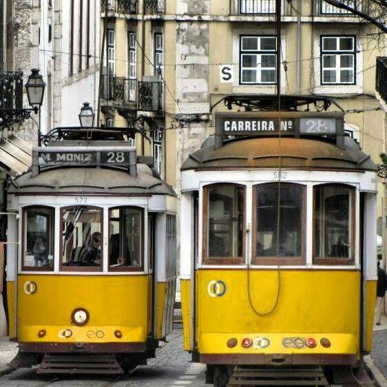 Lisbon tram 28 Twins
