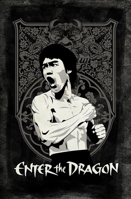 Enter the Dragon. Reminds me so much of my childhood and playing ninja with my brothers.