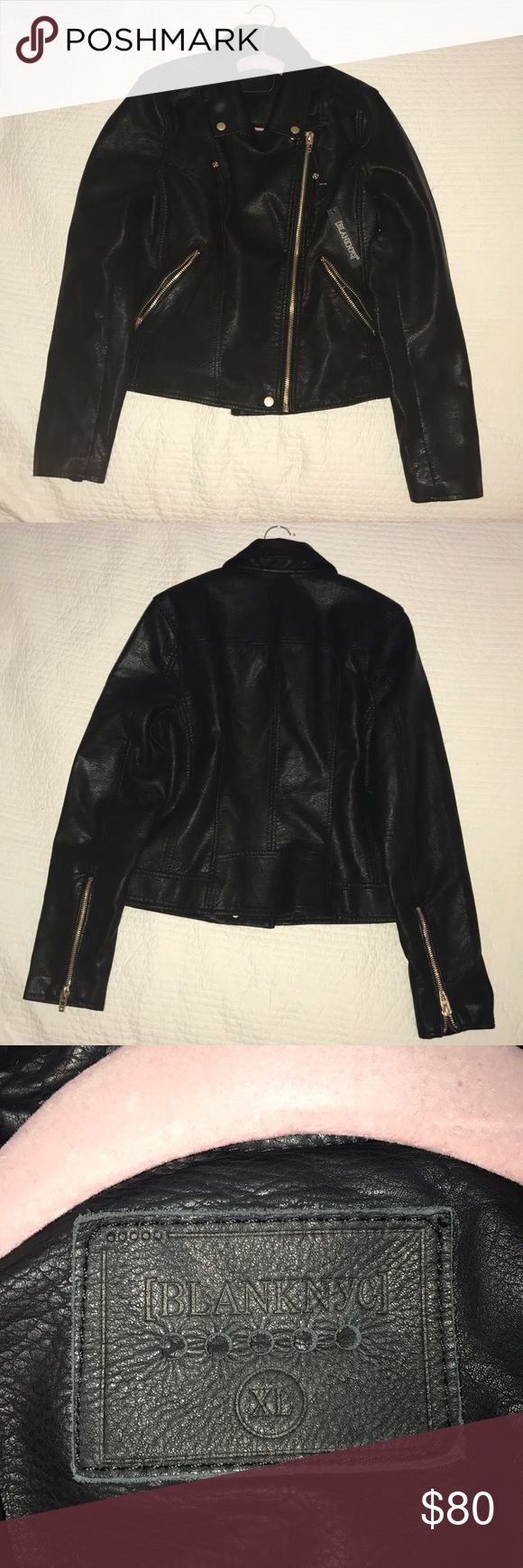 BLANKNYC black faux leather jacket BRAND NEW NEVER USED leather jacket with tags still attached! Blank NYC Jackets & Coats