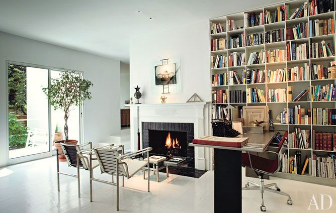 library idea (& a fireplace for book burning?)
