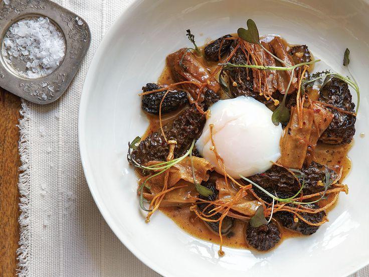 82 best mood board for mainstream restaurants images on for Morel mushroom recipes food network
