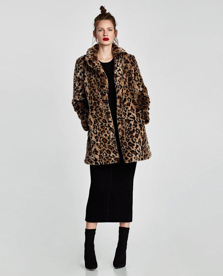 ZARA - WOMAN - FAUX FUR LEOPARD PRINT COAT