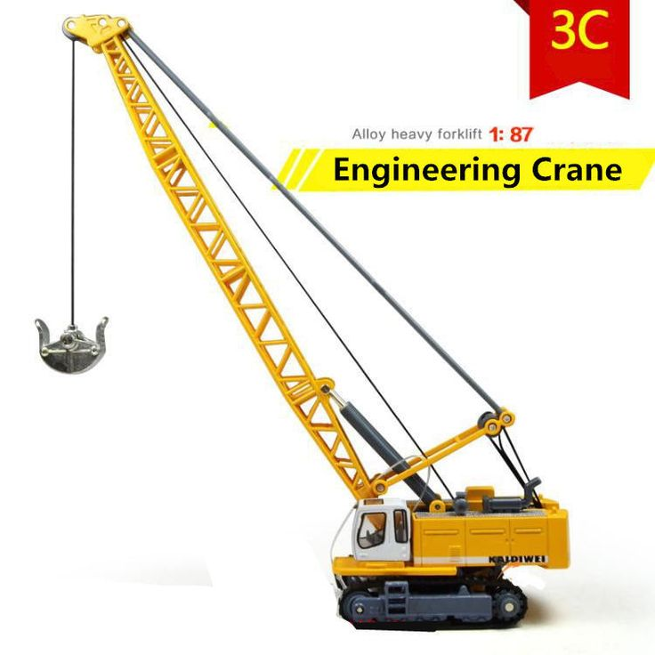1:87 Track Excavator Tower Crane Alloy Engineering Diecast Model education toy #Robo #Liebherr