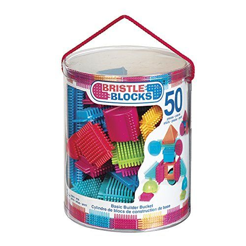 Bristle Blocks – Jeu De Construction 1er âge – Tube 50 Pièces – BA3068Z: Descriptif produit: Ce set composé de 50 pièces colorées en…