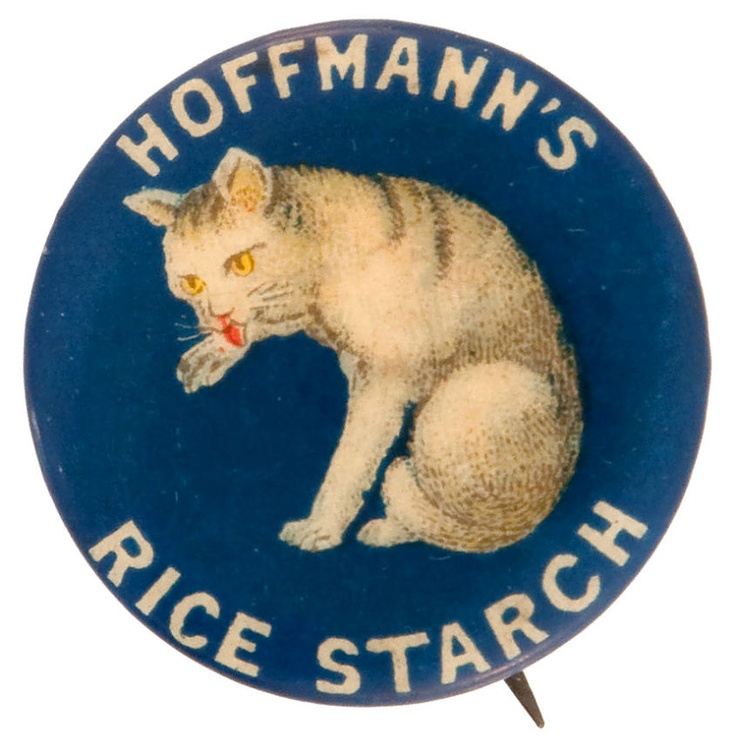 Hoffmann's Rice Starch vintage advertising button