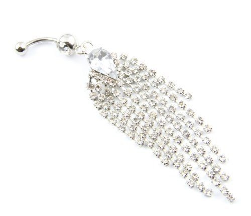 316L Surgical Steel 14 Guage Dazzling Clear Gem Rhinestone 9-Tassels Chain Dangle Navel Belly Bar Ring Barbell Body Jewelry BodyArt. Save 67 Off!. $2.99. We don't recommend sleeping in this belly ring. It can be uncomfortable and cause the belly ring to break.. This is a eye-catching special designed clear crystal 9-tassels chain dangle belly navel bar ring.. Low price, in stock for shipping from China with tracking.. Quality guaranteed by Bodyart. Please contact us immediately with...