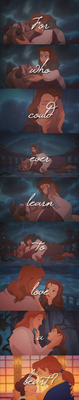 For who could ever learn to love a beast? - Beauty and the Beast (1991) #waltdisney #fanart