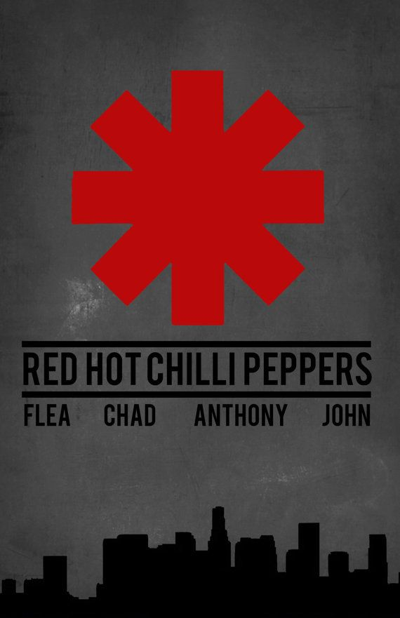 Red Hot Chilli Peppers Band Poster Illustration by StillxSincere, $5.00
