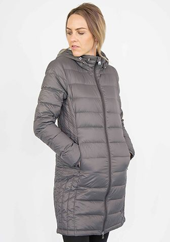 Moke Long Quilted Jacket - Storm