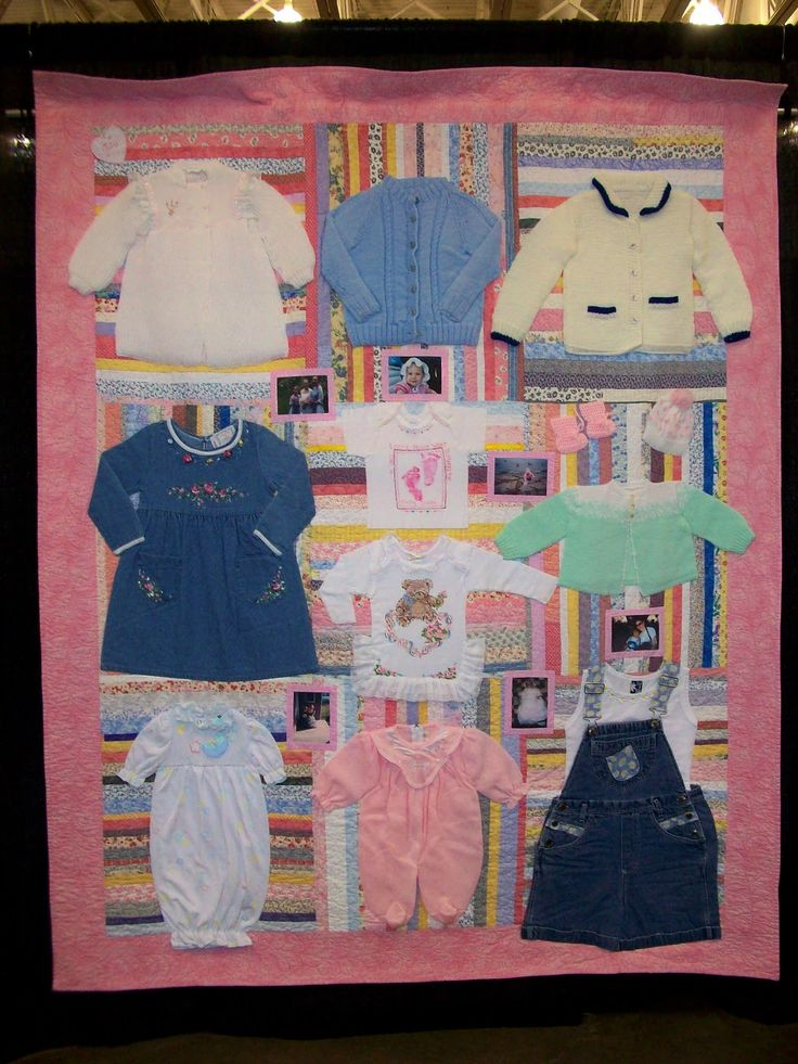 35 Best Images About Baby Clothes Quilt On Pinterest