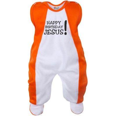 Grenouillère bébé Noël : HAPPY BIRTHDAY JESUS! (7 coloris)