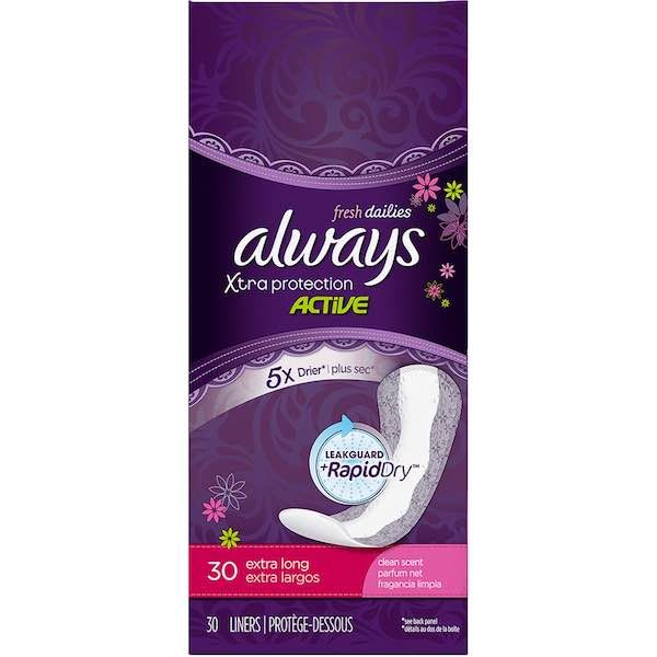 $1.50 Off Two Always Pads And Liners 30ct Or Larger With Printable Coupon!