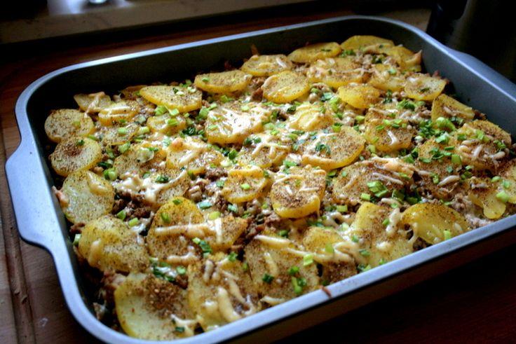Zapiekanka ziemniaczana z mięsem mielonym   zakochani-w-kuchni