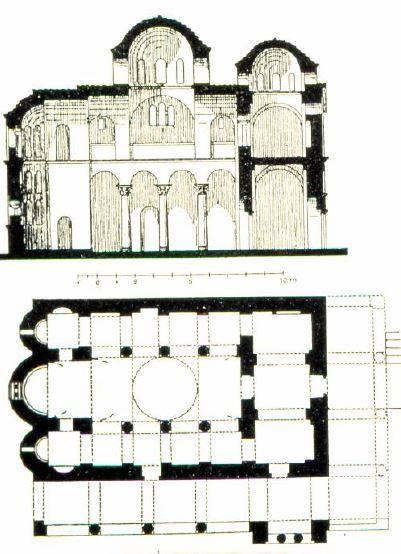 Mistra gr ce glise de la pantanassa premi re moiti for Architecture byzantine definition