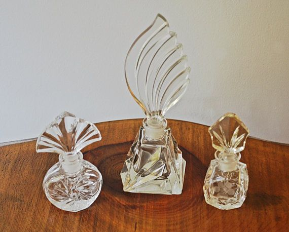 Vintage Perfume Bottles Scent Bottles Glass by Collectitorium