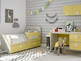 детская мебель Клюква Мини | коллекция Лимонный сорбет + Дуб белый