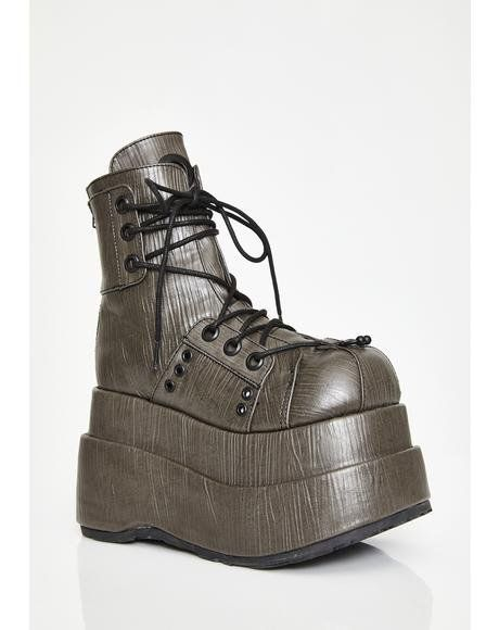 745b187903d5 The Conqueror Platform Boots  dollskill  demonia  platforms  boots   metallic  steampunk