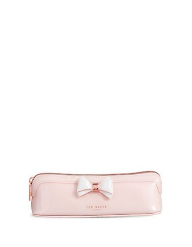 TED BAKER Ted Baker London Colourblock Bow Pencil Case. #tedbaker #bags #lining #polyester #