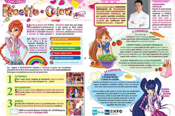 """Tutti chef a scuola con il progetto """"Ricette a colori"""" by Winx"""