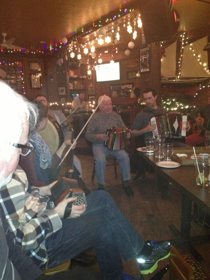 Bringing it all back home - Irish folk & trad session in St. John's Newfoundland where many (but not all) of the musicians are of Irish descent