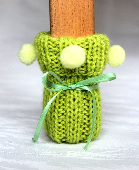 chair socks green Set of 4 knitted