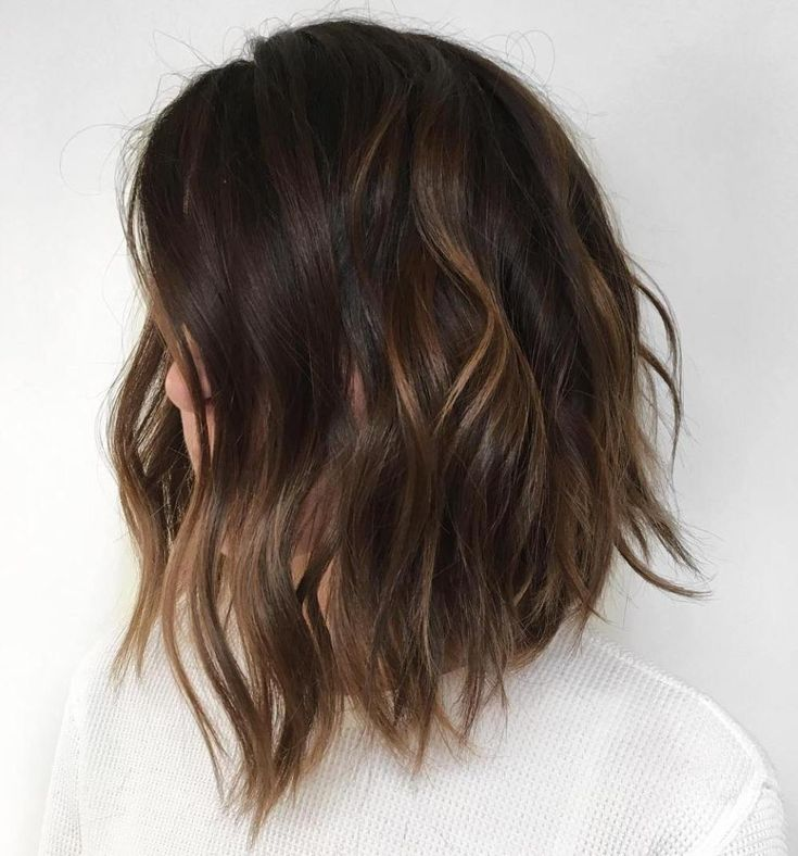 Feb 13, 2020 - #22: Shaggy Dark Bob with Subtle Partial Highlights You don't always need dramatic colors or wide highlights. This is one of those cases when simple is best. You can get that look with light brown highlights done in a subtle way.