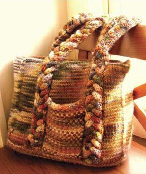 Summer Woven Bag | AllFreeKnitting.com  Maybe would try this in rafia  :)