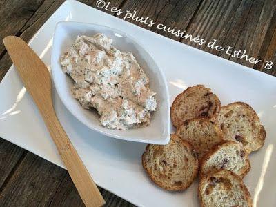 Les plats cuisinés de Esther B: Rillettes de saumon
