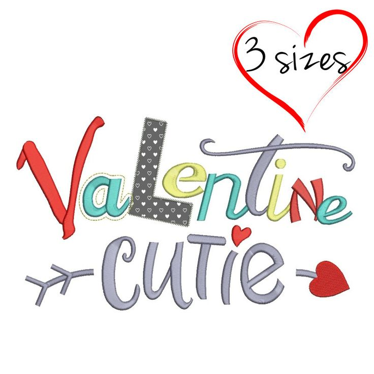 Embroidery design Valentine cute love heart instant digital download pattern applique in the hoop pes file by SvgEmbroideryDesign on Etsy