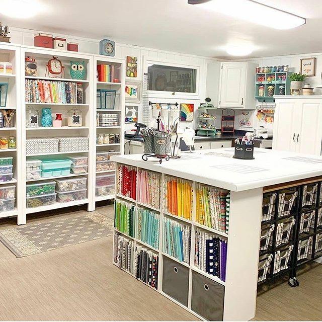 Best Craft Rooms Craftrooms Bestcraftrooms Instagram Photos And Videos Sewing Room Design Craft Room Design Craft Room Decor