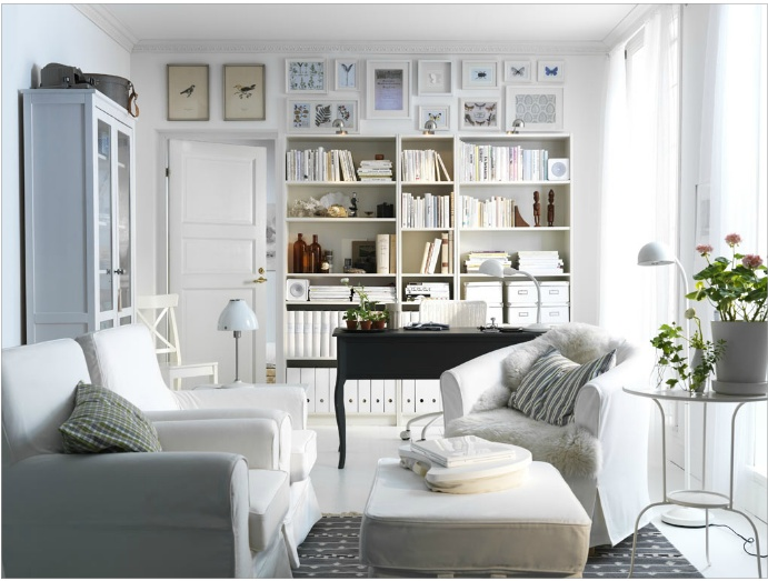 Trends Ikea View Trend Design Love The Sittting Room Combined With Offtice Use Of White In Shelving Neutralizes Office Feel