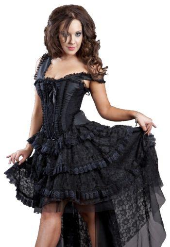 Burleska Black Gothic Lace Dress