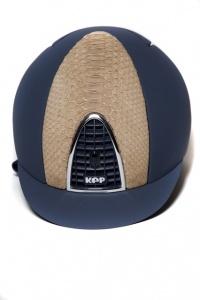 Riding helmet Kep Italia, Blue and Python