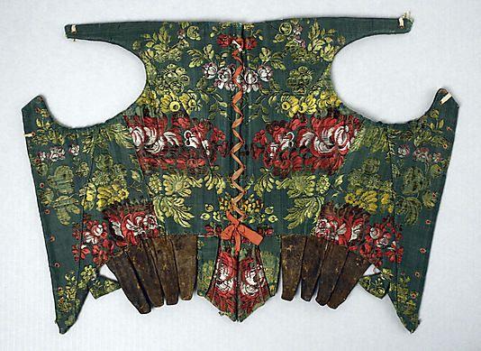 Corset Date: 18th century Culture: American or European Medium: silk