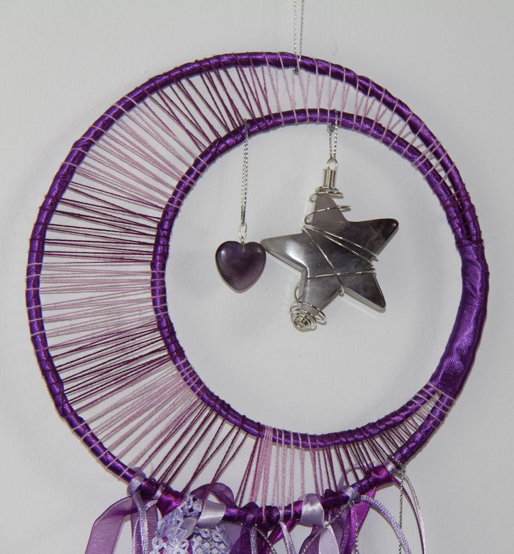 A personal favourite from my Etsy shop https://www.etsy.com/listing/233006722/fairy-dreams-dreamcatcher-purple-crystal