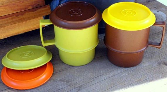 Tupperware cups with lid Vintage Tupperware Nesting Plastic