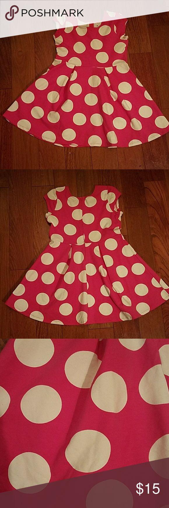 Girls  polka dot dress.                       Nwot Scoop neck pink and white polka dot short sleeve dress Dresses Casual